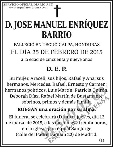 Jose Manuel Enríquez Barrio